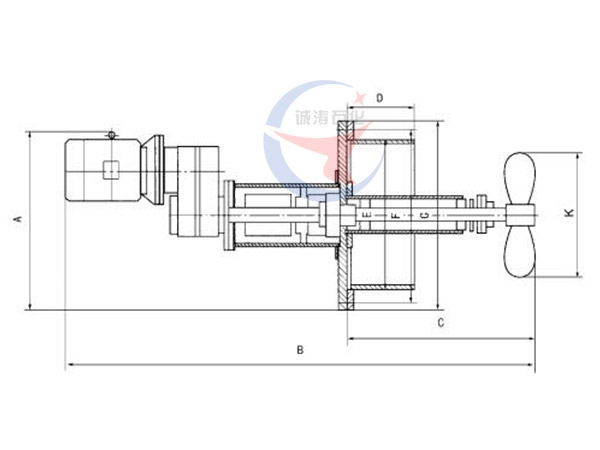 SLGH type laterally extending mixer