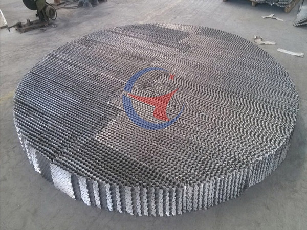 SW type metal mesh plate corrugated packing